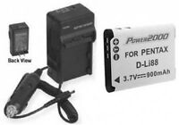 Battery + Charger For Pentax P70 P80 Ws80 Ws-80