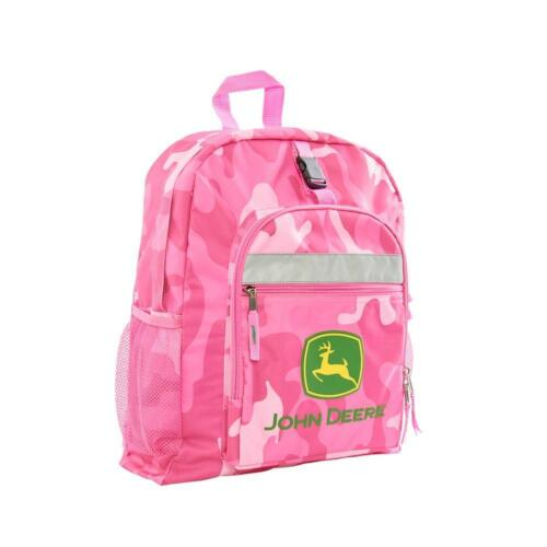 NEW KIDS JOHN DEERE TRACTOR PINK CAMO BACKPACK BOOK BAG SCHOOL BAG LP53777