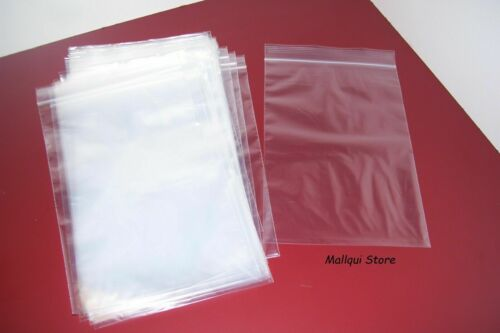 100 CLEAR 2.5 x 12 ZIP SEAL RECLOSABLE 2 MIL THICK POLY BAGS PLASTIC STORAGE