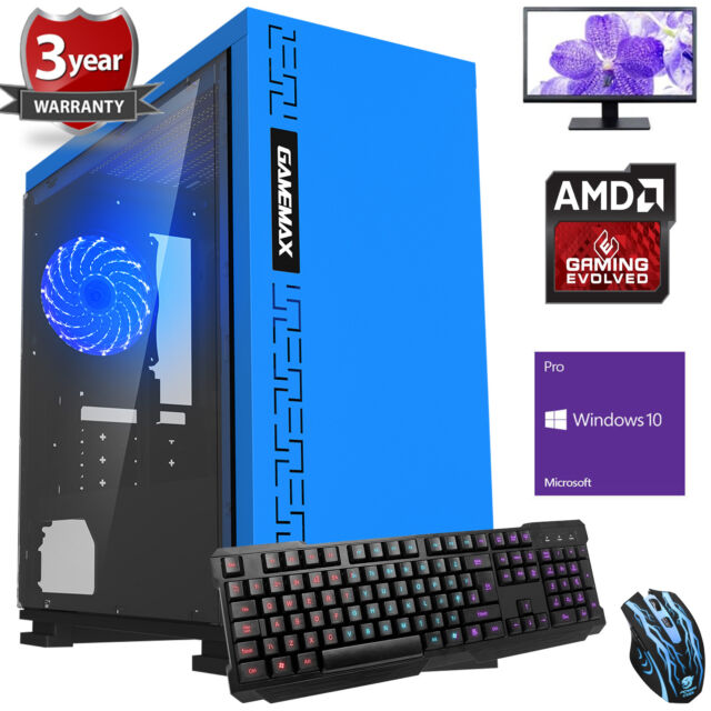 Ultra Fast Quad Core Desktop Gaming PC Computer Bundle 3.9 8GB 1TB Windows 10 EB
