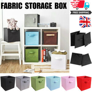 4//8 pack Foldable Storage Boxes Collapsible Home Clothes Organizer Fabric Cube