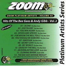 Zoom Karaoke CD+G Platinum Artists 45 Bee Gees & Andy Gibb Volume 2 New Sealed