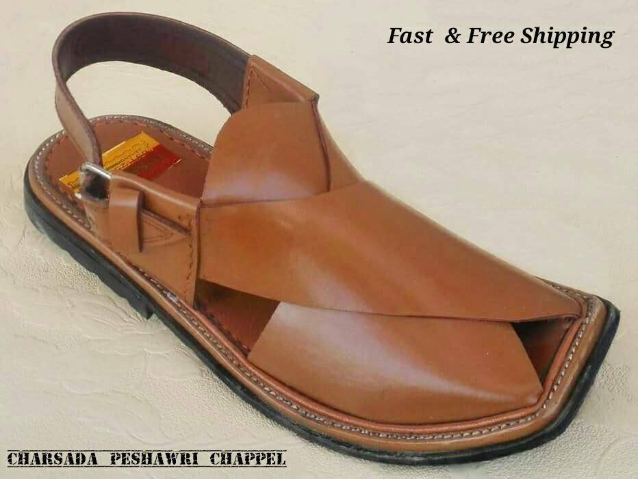US 7, 8,9,10,11 MEN'S HANDMADE CEREMAL CHARSADA  LEATHER PESHAWARI CHAPPEL