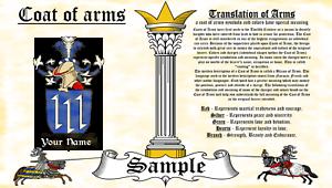 Walldorf-Walldorph COAT OF ARMS HERALDRY BLAZONRY PRINT