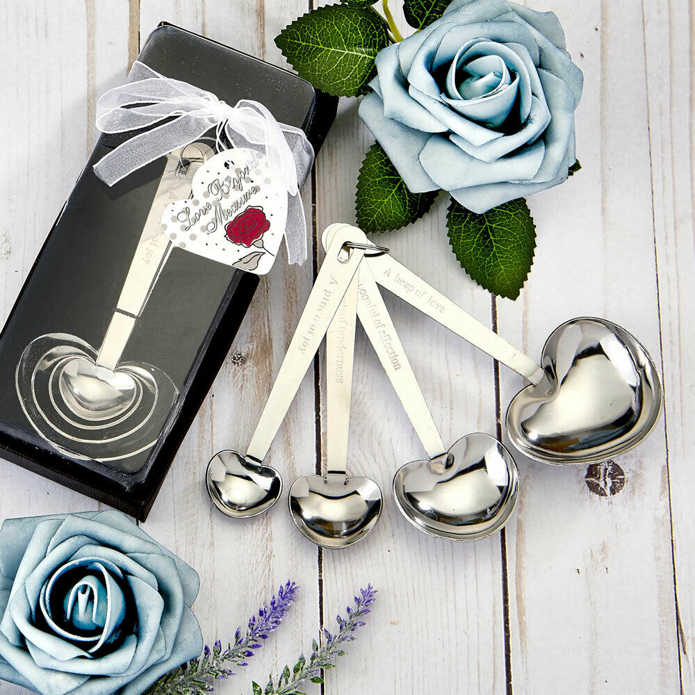 15-70 Heart Design Measusacue Spoons - mariage Shower Party Favors