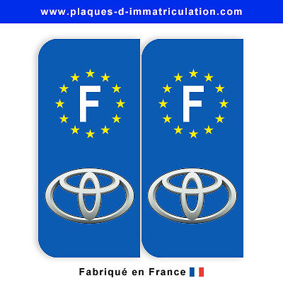 Sticker plaque toyota F (jeu de 2 stickers)