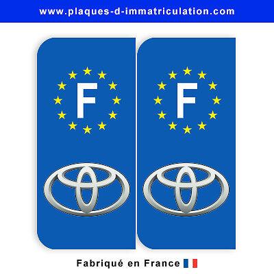 Sticker plaque toyota F (jeu de 2 stickers)