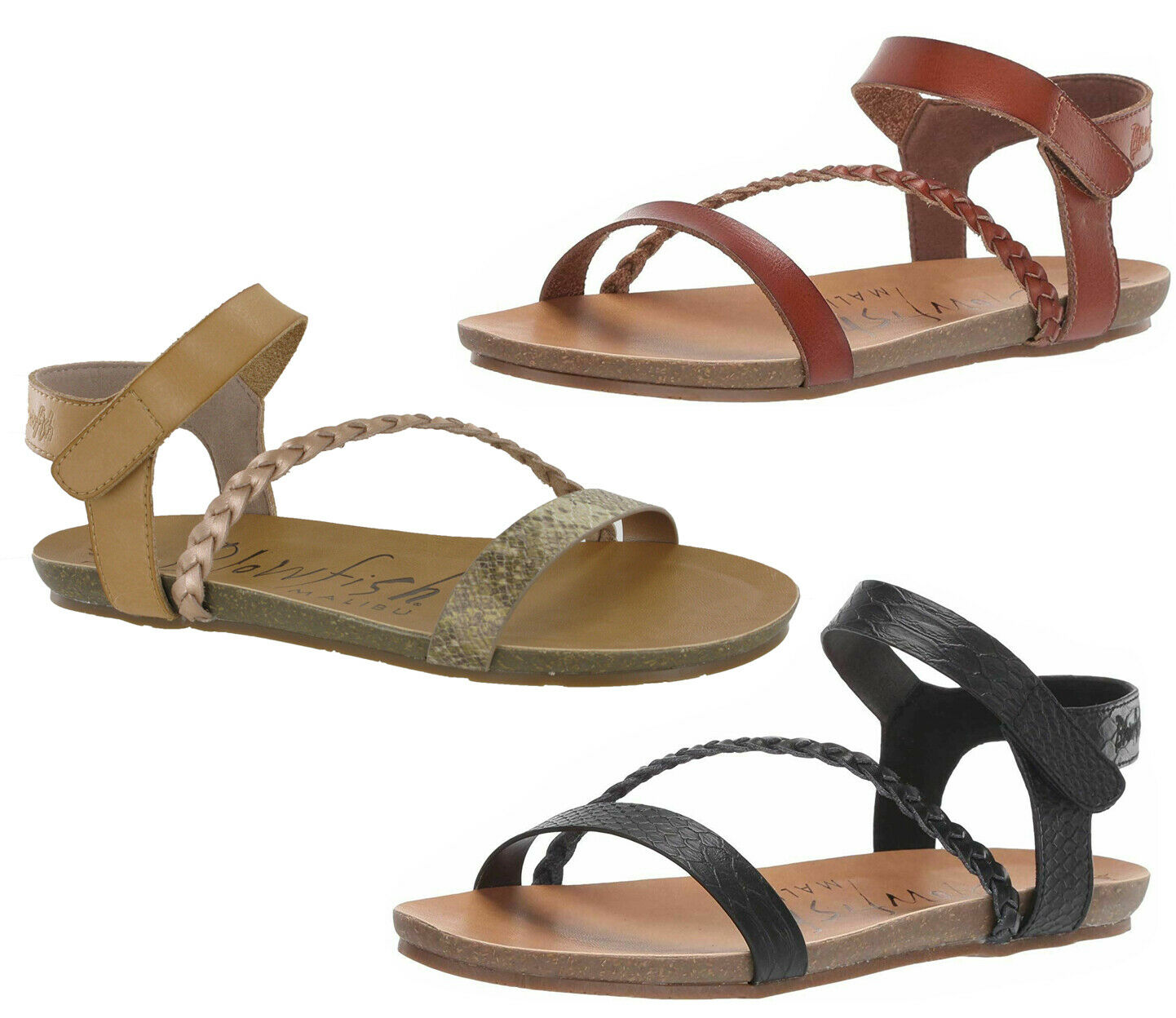 Blowfish Goya Plates Femmes Bout Ouvert Sandales Mode Décontracté Chaussures