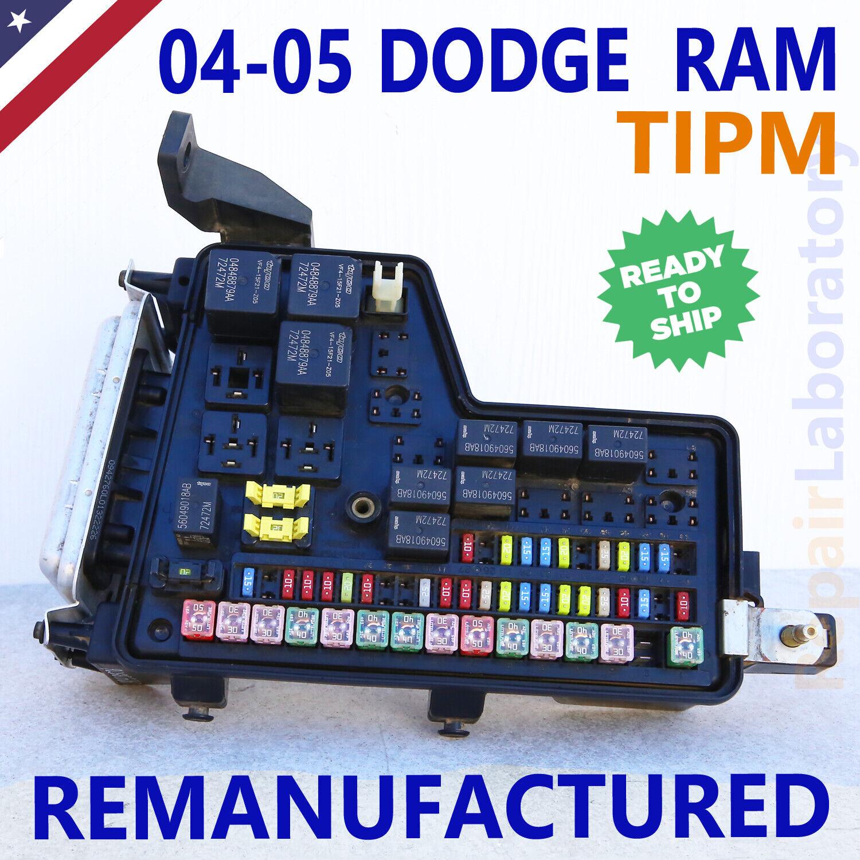 ✅rebuilt p05026034 p05026033 04-05 dodge ram pickup 1500 2500 3500 tipm fuse  box for sale online  ebay