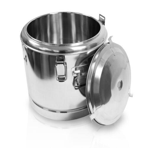 35 L Edelstahl Thermobehälter Speisen Warmhaltebehälter Isolierung 40 x 40 cm