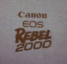 CANON EOS REBEL 2000 photography tee 35mm camera 1990s logo T shirt XL