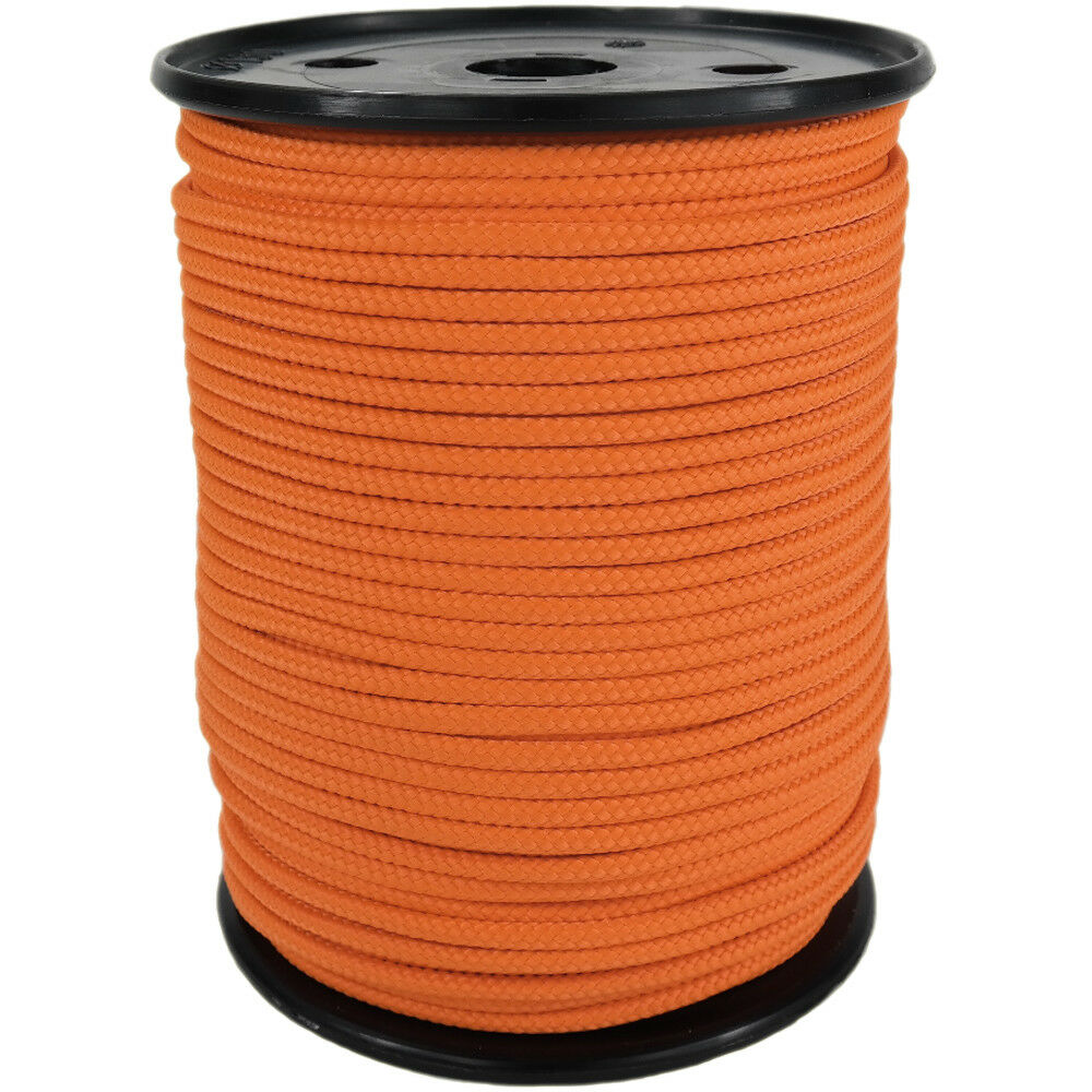 Polypropylene Rope PP 6mm 100m orange (0131) Braided