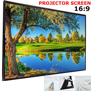 100-034-Inch-Projector-Projection-Screen-16-9-White-Matte-3D-HD-Home-Cinema-Theater