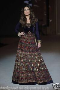 6452a7a41ba Image is loading Anarkali-Indian-wedding-wear-bollywood-SALWAR-KAMEEZ- PAKISTANI-