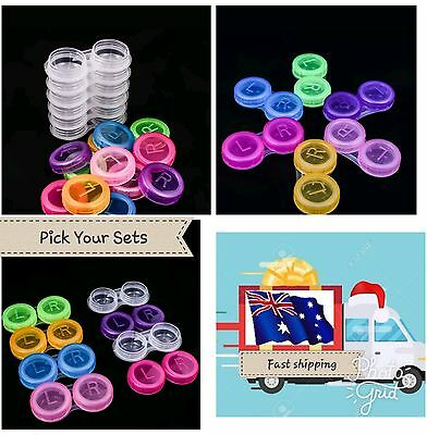 Container Lens Lens Contact Contact Plastic Outdoor Travel Cases Holder v8x5q