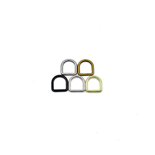 "3//8/"" inch Solid Cast D Ring Black Silver Brass Antique Brass Pewter Dee Steel"