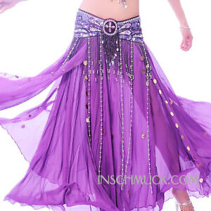C38 Belly Dancing Costume Huefttuch Garter Belt Coin Belt Belt