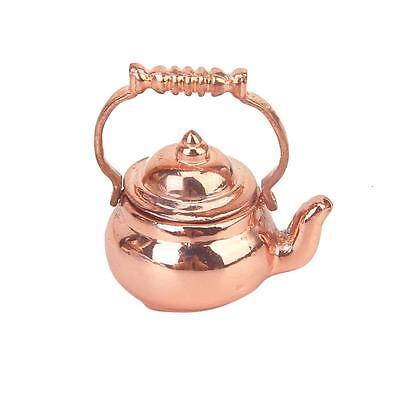 Dollhouse Miniature Kitchen furniture Teapot Copper Tea Kettle rose gold VINTAGE