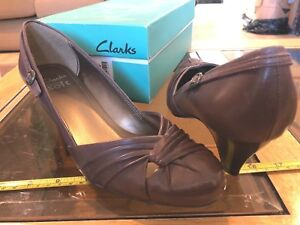 Uk 6 Brown Ladies Box Soft Heels elegante Diseño Shoes Cusion Nuevo Clarks 1XAIwBqXx