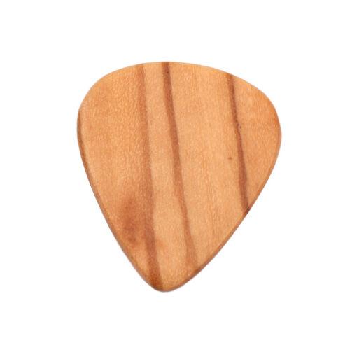 Olive Wood Acoustic Guitar Pick Plectrum Picks for Bass Part Accessories