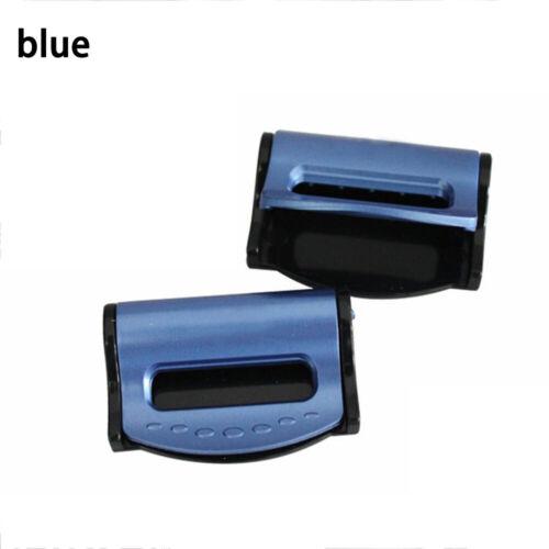 2pcs Auto Car Safety Seat Belt Adjuster Clip Stopper Buckle Improves Comfort