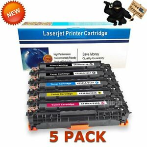 5PK-Toner-Set-312A-for-HP-CF380A-3A-Color-LaserJet-Pro-MFP-M476dn-M476dw-M476nw