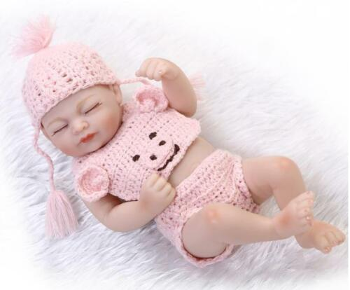 """Newborn Clothes Mini Reborn Little Baby Girl Clothing Gifts For 10/""""-11/'/' Dolls"""