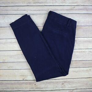 J Crew De Mujer Minnie Cremallera Lateral Talla 0 Azul Marino Pantalones Angostos Ebay