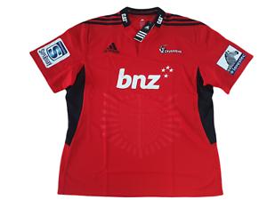 adidas Canterbury Crusaders Trikot Home Rugby Herren Größe L XL 2XL -NEU- Z22261
