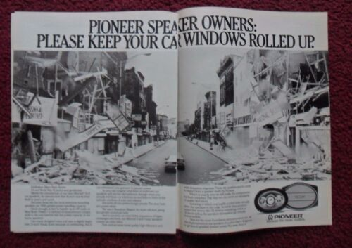 1983 Print Ad Pioneer Car Speakers ~ Please Keep Your Car Windows Rolled UP