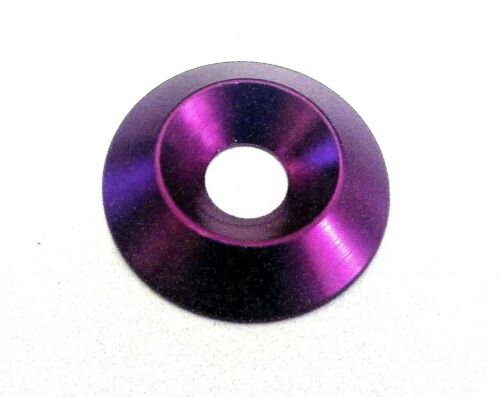 M6 x 22mm x 4mm RONDELLE svasati alluminio anodizzato-Viola
