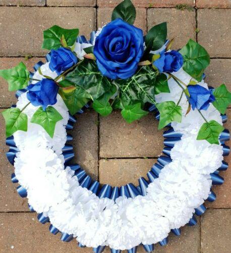 Wreath Silk Artificial Funeral Flowers Wreath//Memorial//Grave Tribute