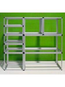Scaffali Bianchi Componibili.Dettagli Su Profilo Alluminio Per Scaffali E Strutture Modulari Componibili