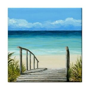 Large-Ceramic-Tile-6x6-Sea-View-147-ocean-beach-art-painting-by-L-Dumas