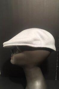 e87e7a0c26b19 Image is loading KANGOL-Newsboy-Hat-Flat-Cap-Wool-Blue-Size-