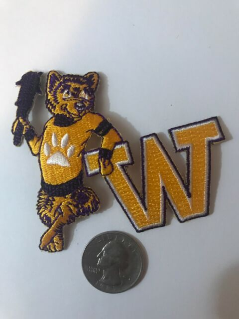 "UW Washington Huskies Embroidered Iron On Patch Vintage  3"" X 3"""