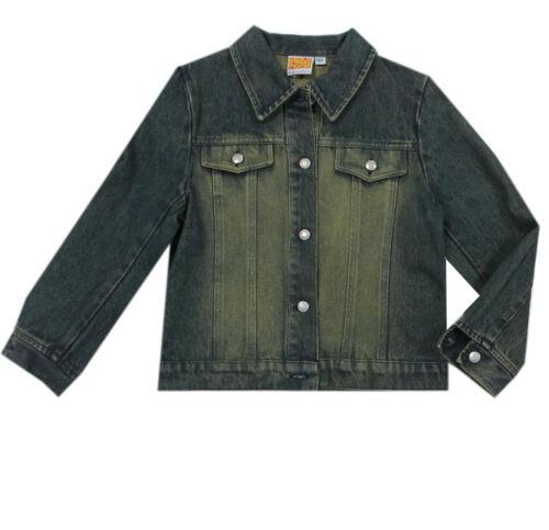 98,104,116,122,128 NUOVO Top Teens Giacca Giacca Jeans Di Transizione Giacca Blu Ragazza tg