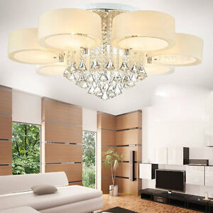 Modern 60 70 90cm crystal led chandeliers ceiling lights for Ebay living room lights