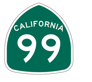 California State Route 99 Sticker Decal R1179 Highway Sign