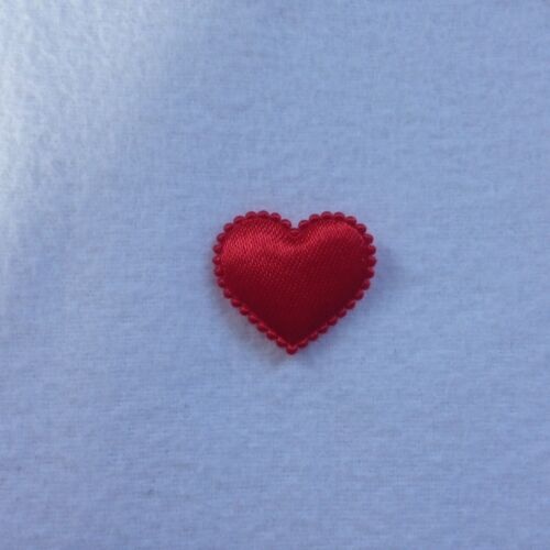 10 X SATIN RED HEART SHAPE CARD TOPPER//EMBELLISHMENTS