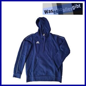 SCHNÄPPCHEN! adidas Core 18 Hoody \ blau/weiss \ Gr.: L \ #T 40074