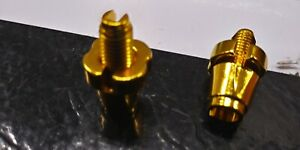 2-Gold-7mm-Adjustment-Nut-for-Old-School-GT-Bicycle-BMX-Bike-Tech-77-Brake-Lever