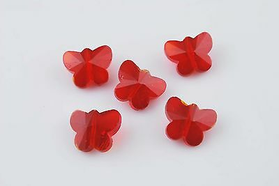 NEW Exquisite Faceted Glass Crystal Butterfly Design Beads Spacer Findings 14mm