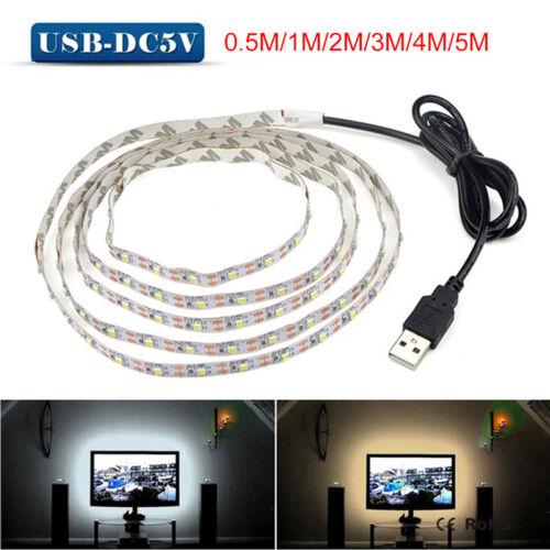 5V TV LED Backlight USB LED Strip Light Decor Lamp Tape TV Background Lighti W7