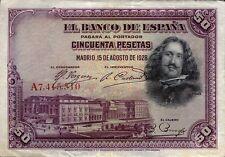 Spanien / Spain 50 Pesetas 1928 Pick 75a (3+)