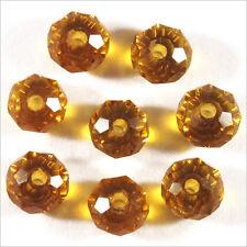 20 perles à Facettes Rondelles 6 x 4 mm en Cristal Topaze