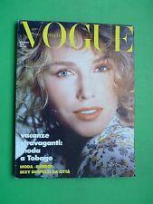 VOGUE Italia Maggio 1986 May cover Kim Alexis Madonna Ciccone William Garrett
