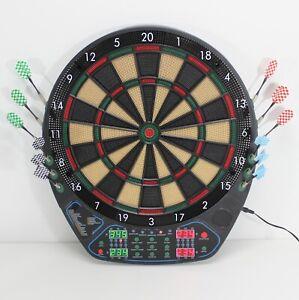 Elektronische-Dartscheibe-FULL-SIZE-LED-soft-Dartboard-Dart-Spiel-Pfeile-82895