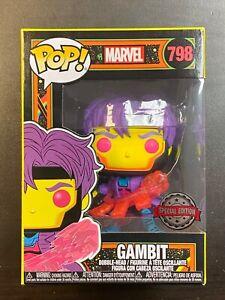 Funko POP Marvel Gambit Black Light Glow #798 Special Edition Exclusive
