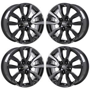 17 fits nissan rogue black wheels factory oem 2017 2018 set 4 62746 exchange ebay. Black Bedroom Furniture Sets. Home Design Ideas